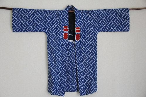 Japanese indigo festival hanten jacket