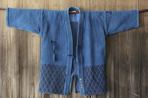 VintageJapanese indigo dyed ken-do jacket YOKOHAMA