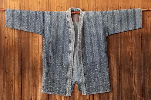Vintage Japanese stripe indigo dyed ken-do jacket