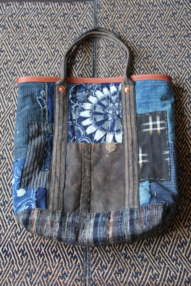 Japanese katazome boro bag