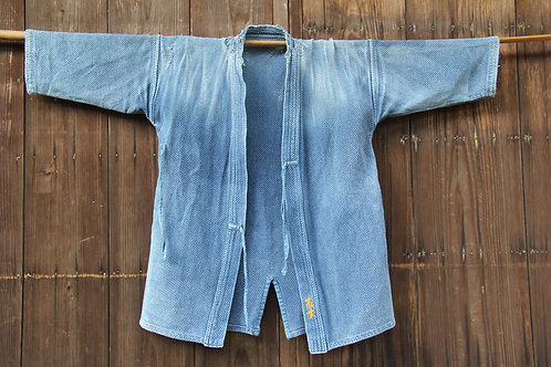 Vintage Japanese indigo dyed ken-do jacket TOMISHIGE