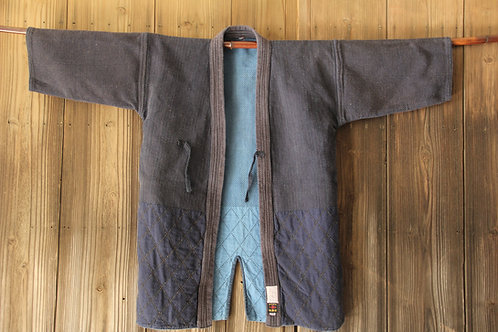 Vintage reversible Japanese indigo dyed ken-do jacket