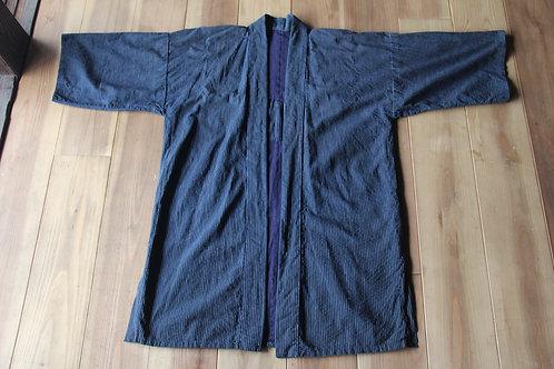 Vintage Japanese  indigo stripe noragi jacket