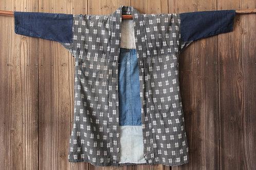 Reversible vintage Japanese sashiko stitched kasuri boro jacket