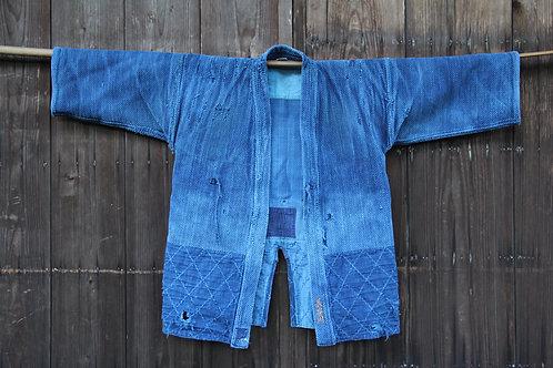 Vintage Japanese indigo dyed boro ken-do jacket
