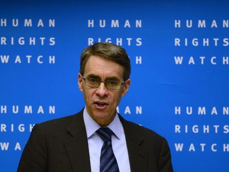 Head of Human Rights Watch, Kenneth Roth, calls on French & British Governments to follow Biden lead