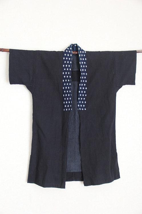Vintage Japanese indigo kasuri hanten jacket