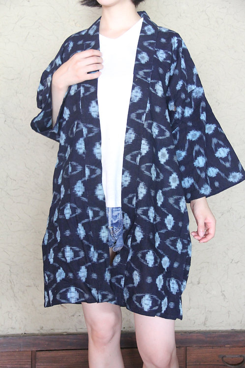 Vintage Japanese indigo kasuri noragi jacket
