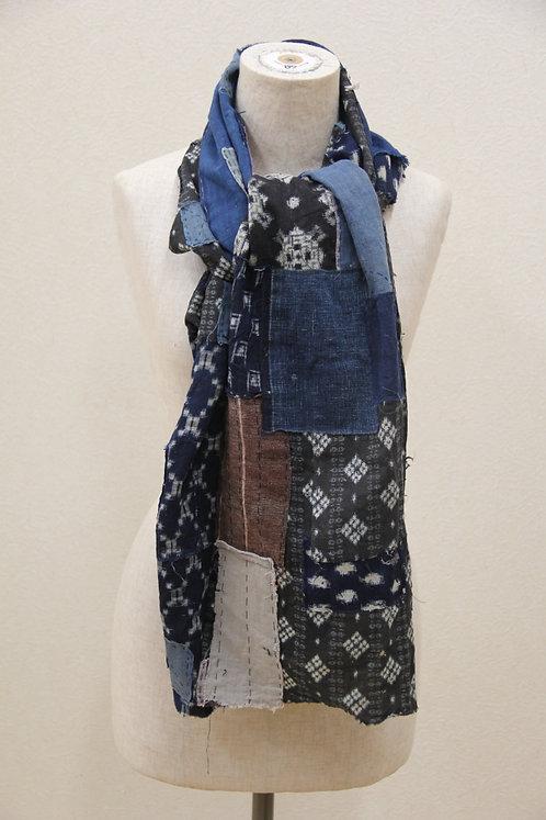 Japanese sashiko boro scarf