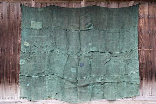 Japanese sashiko stitched hemp kaya boro rug
