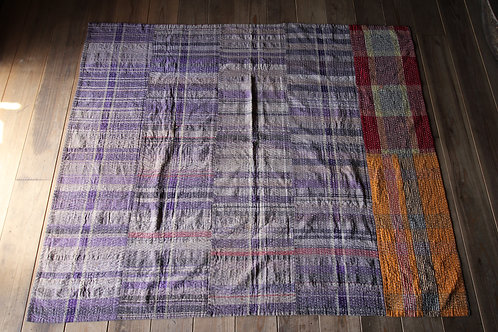 Vintage Japanese sashiko stitched BORO rug