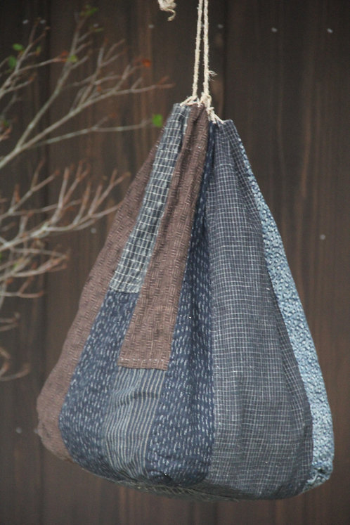 Vintage Japanese patched rice bag