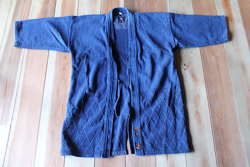 Vintage Japanese indigo dyed ken-do jacket
