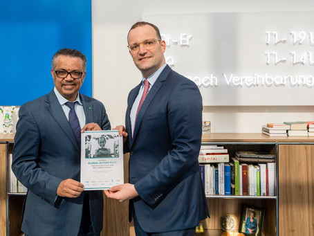 Jens Spahn, Germany's health minister, paid a visit to WHO and Geneva.