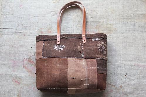 Japanese sakabukuro patchwork tote bag