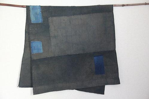 Japanese sashiko stitched boro fragment