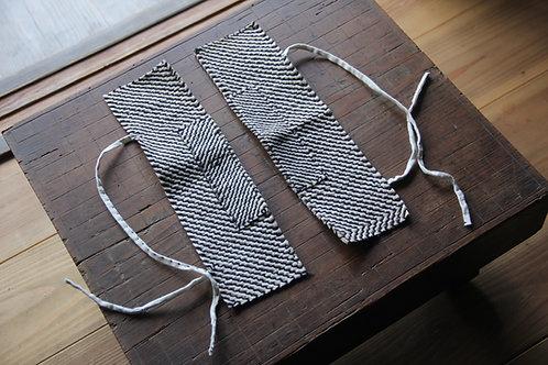 Vintage Japanese sashiko stitched ankle guard