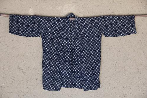 Vintage Japanese  indigo dyed kasuri noragi jacket