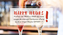 HAPPY HOURS en décembre !