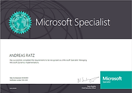 Microsoft Specialist Managing Implementations