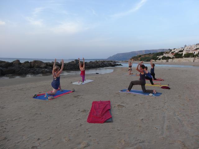 Yoga op het stand