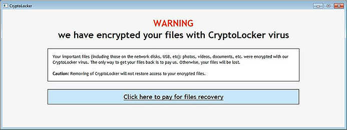 Example of Ransomware that Encrypted Personal Files