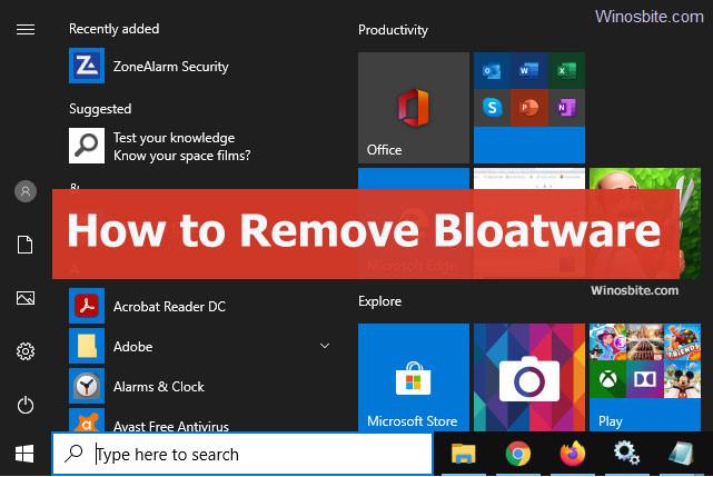 Laptop Preloaded Bloatware