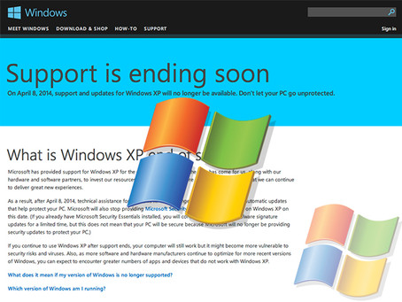 XP Support Ends on April 8th, 2014 - What this means for XP Users