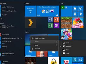 Customized Windows 10 Start Menu