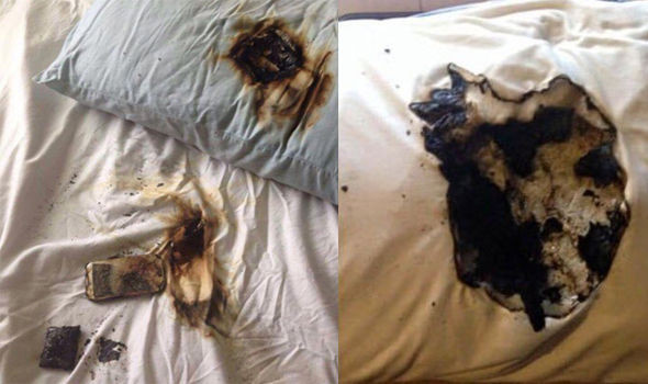 Pillow and bed caught on fire due to faulty charging cables