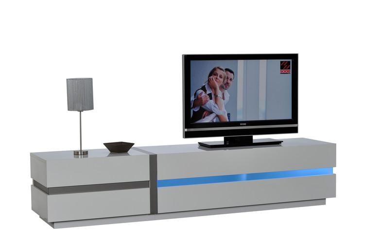 BANC TV 220 1 PO 1AB N°38 avec éclairage    1 DOOR 1 FLAP TV HIFI BENCH 220 N°38with lights