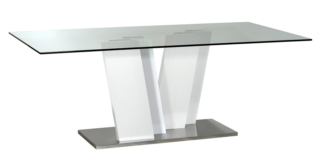 Table RECTANGULAIRE plateau verre N°10     RECTANGULAR GLASS TABLE  N°10