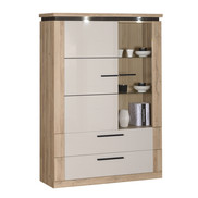 RANGEMENT 1 PORTE BOIS  1 PORTE GLACE 1 TIROIR  N°2 1 DOOR 2 DRAWERS STORAGE UNIT  N°2