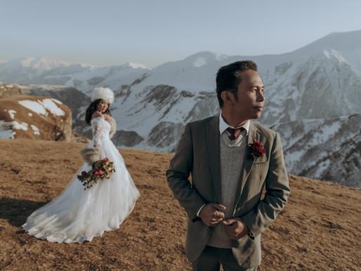 Wedding ceremony in Gudauri