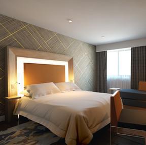Hotel Bedroom Render View 1