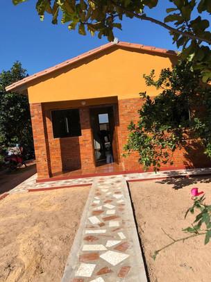 La vivienda que el Estado de Paraguay entregó a la familia Centurión
