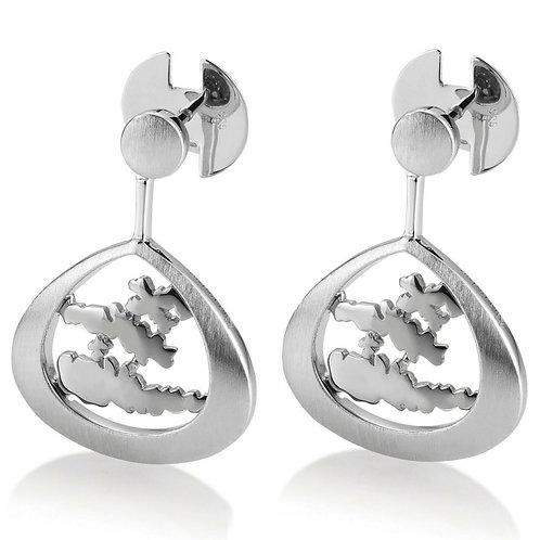 Island Jewelry Earrings All Silver Tear Drop Collection