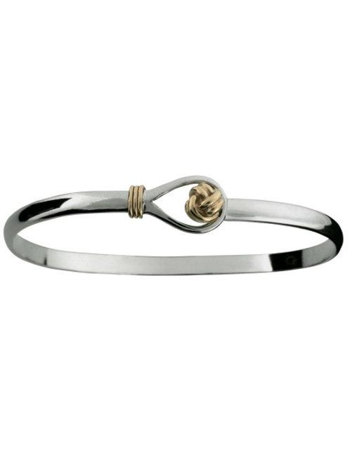 Sterling Silver 14K Wrap, Knot Hook Bracelet