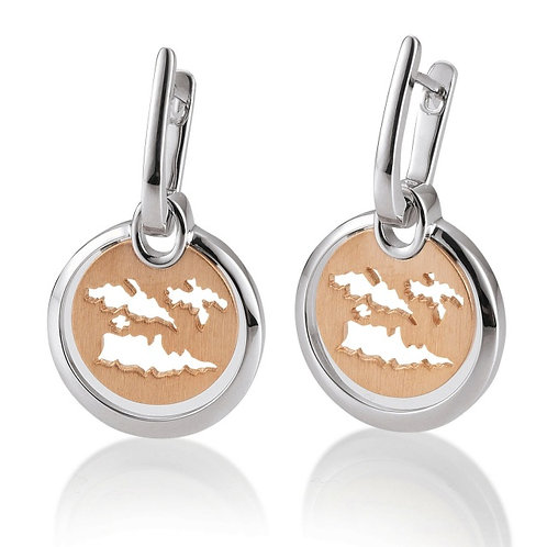 Island Jewelry Earrings Rose Gold Coin Collection