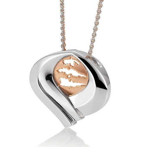 Island Jewelry Pendant Rose Gold Heart Collection