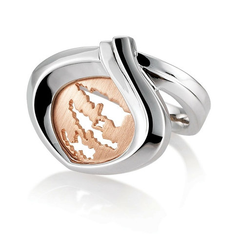 Island Jewelry Ring Rose Gold Heart Collection