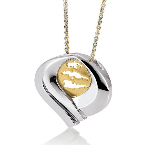 Island Jewelry Pendant Yellow Gold Heart Collection