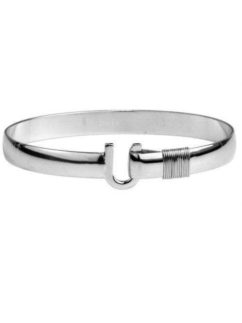All Silver Titanium Hook Bracelet