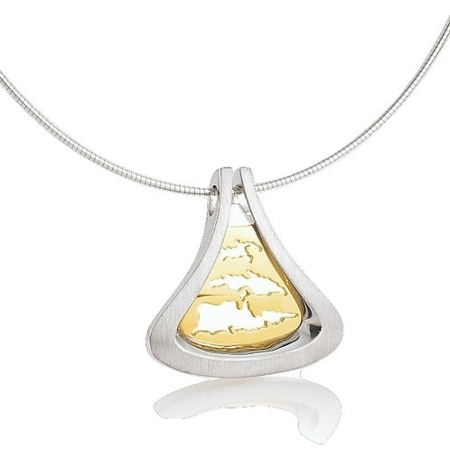 Island Jewelry Necklace Yellow Gold Seashell Collection