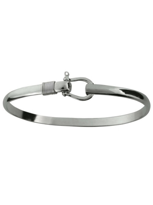 Silver Shackle Hook Bracelet