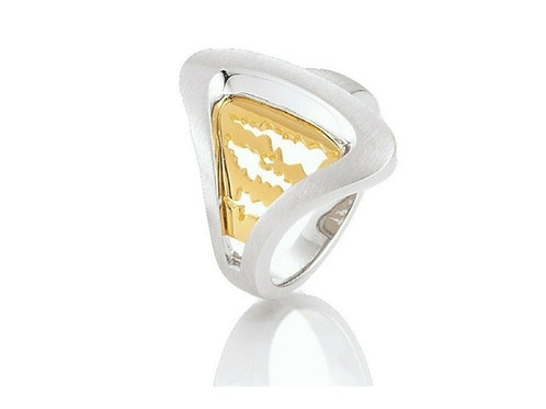 Island Jewelry Ring Yellow Gold Seashell Collection