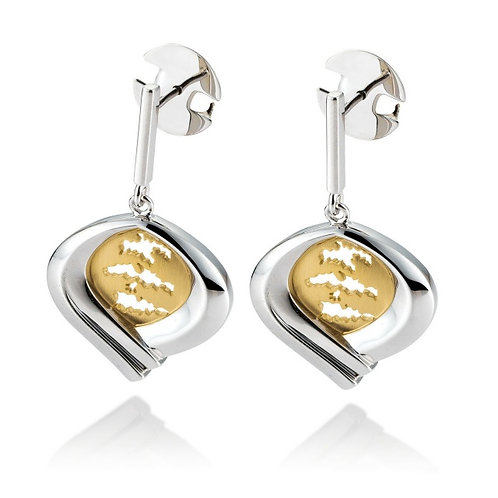 Island Jewelry Earrings Yellow Gold Heart Collection