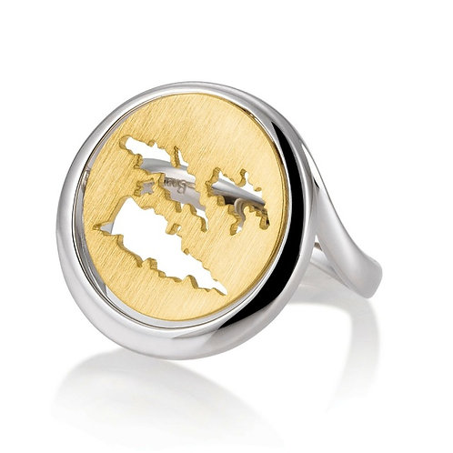 Island Jewelry Ring Yellow Gold Coin Collection