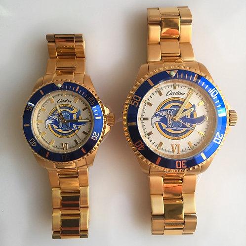 CAHS Men & Women's Stainless Steel Watch Pairing