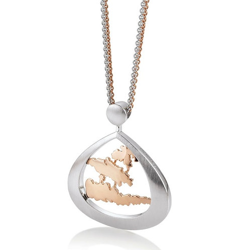 Island Jewelry Pendant Rose Gold Tear Drop Collection